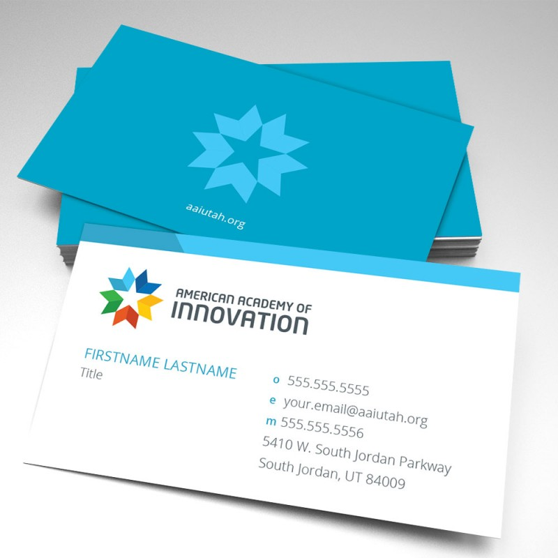 American academy of innovation business cards pack of 250 colourmoves