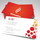 Bloomfire Business Card No Cell Number (pack of 250)