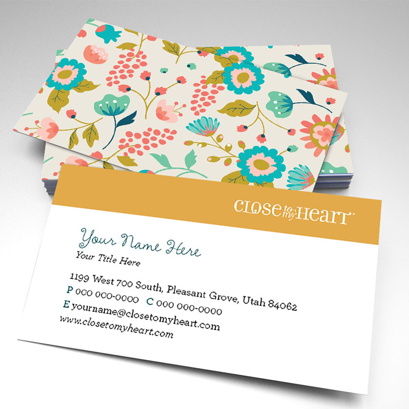 To My Heart Floral Business Cards (pack of 250)