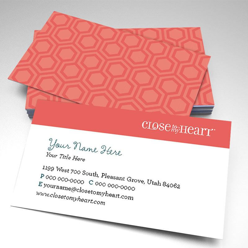 Close To My Heart Hexagon Business Cards (pack of 250)