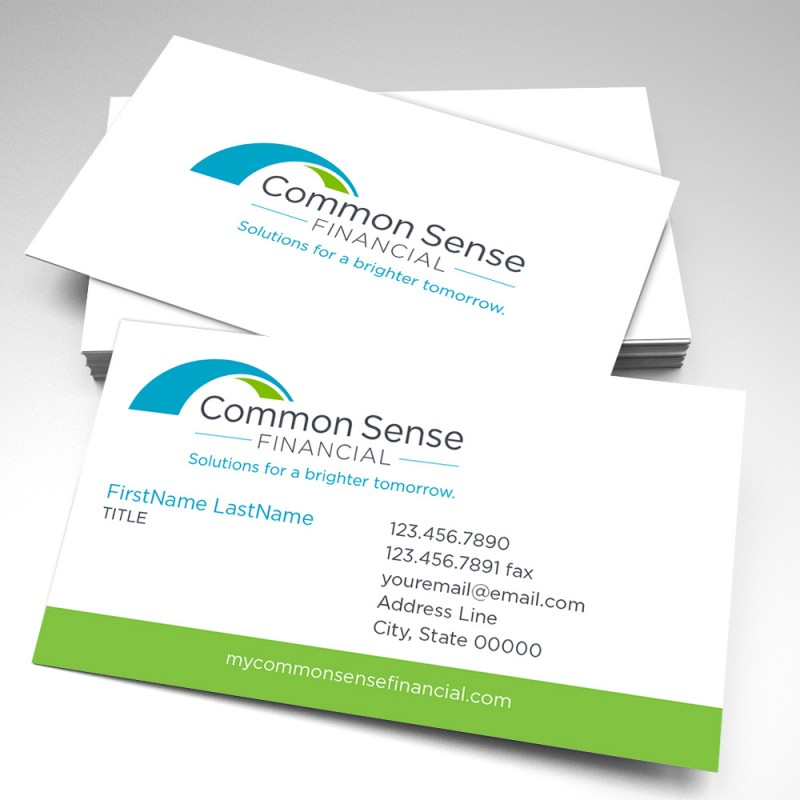 Common sense financial business cards pack of 250 colourmoves