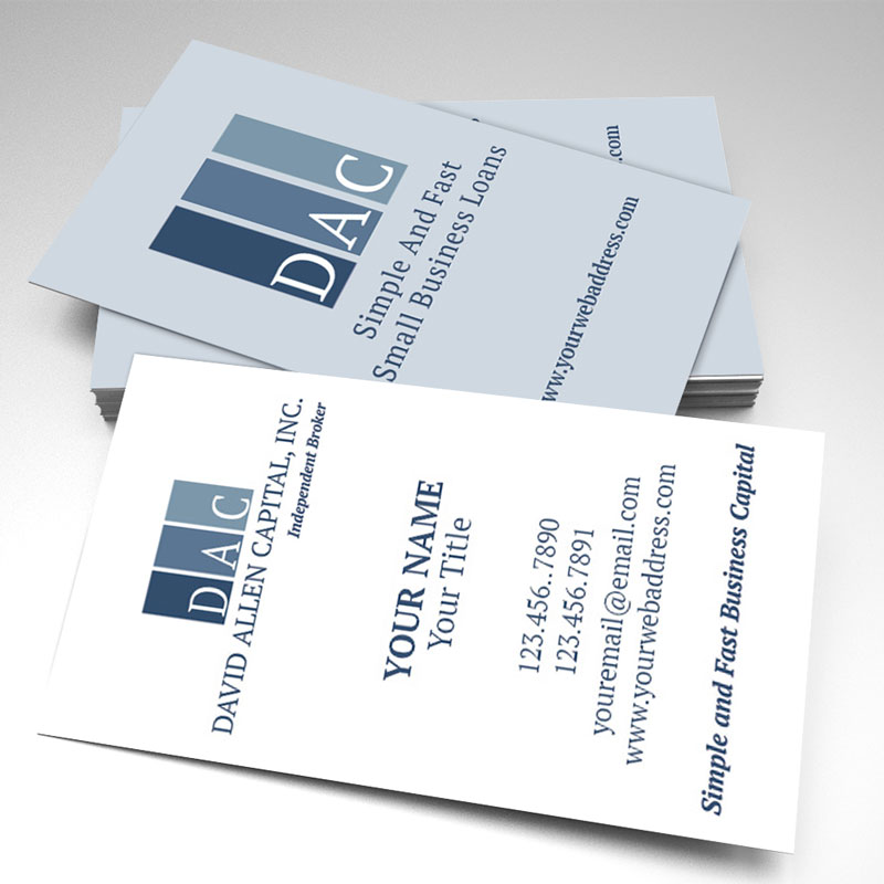 David Allen Capital Business Cards (pack of 250)