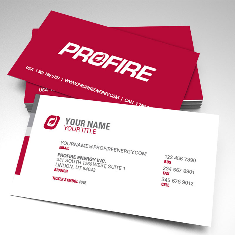 Elevate - Profire Business Cards Style 2 (pack of 250)