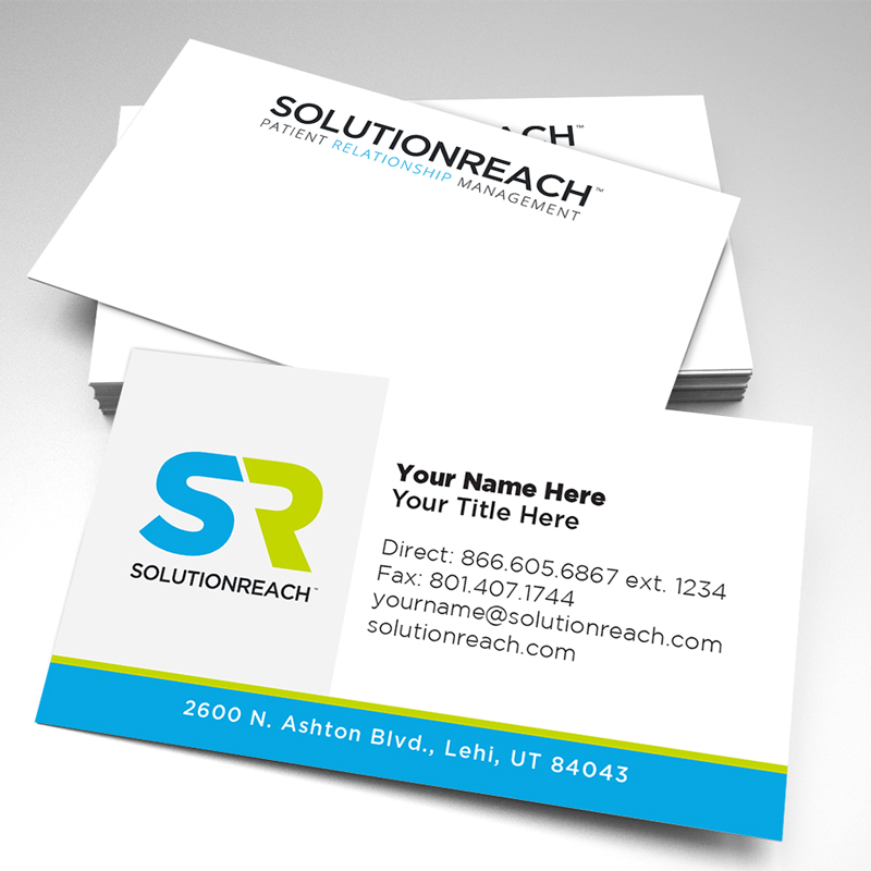 Business cards pack of 250 solutionreach business cards pack of 250 colourmoves